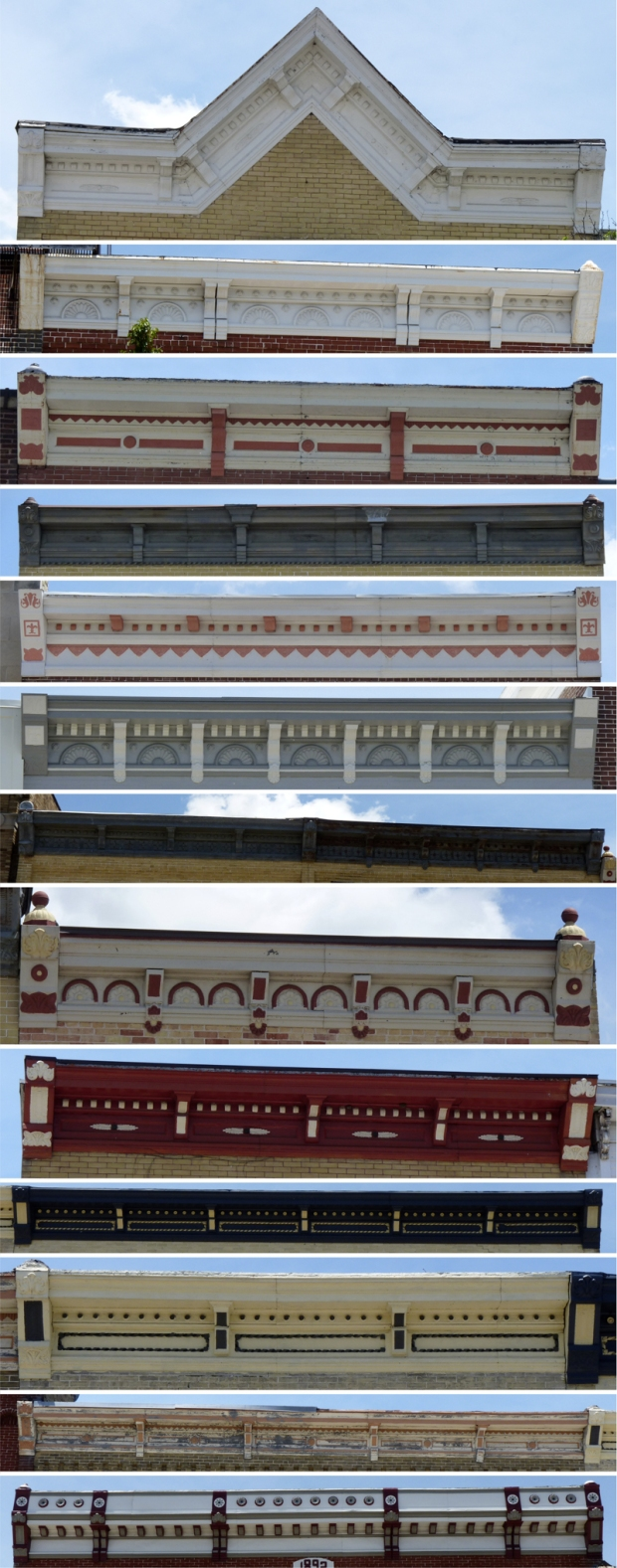 Cornices by Mesker Brothers Iron Works in Elkhorn, WI.
